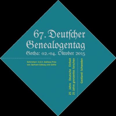 67. Deutscher Genealogentag, Gotha 2015