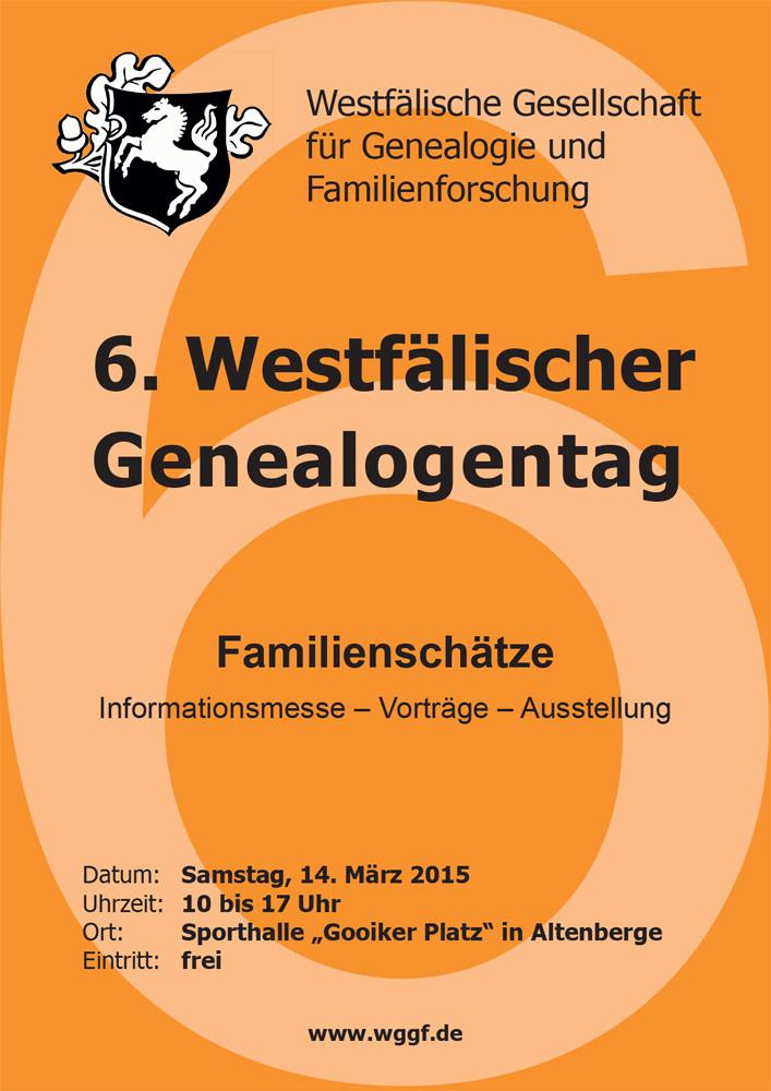 6. Westfälischer Genealogentag