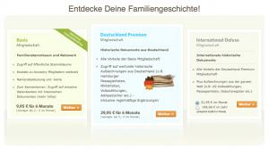 Ancestry.de - Bezahlmodelle