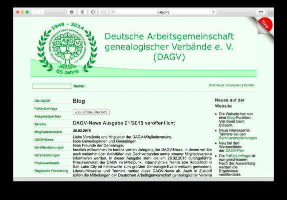 DAGV Blog