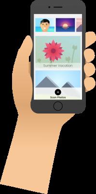 Illustration - Hand Home Screen