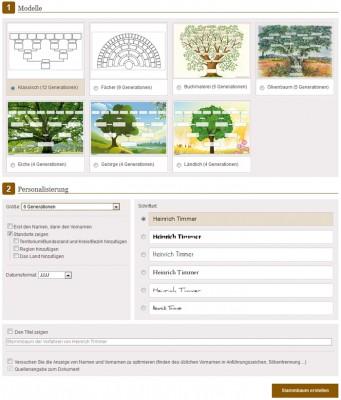 Stammbaumdruck bei geneanet