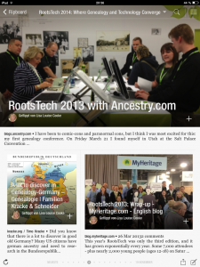 Flipboard: RootsTech - A lot to discover in Genealogy-Germany