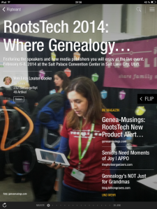 Flipboard: RootsTech 2014 - Where Genealogy and Technology converge